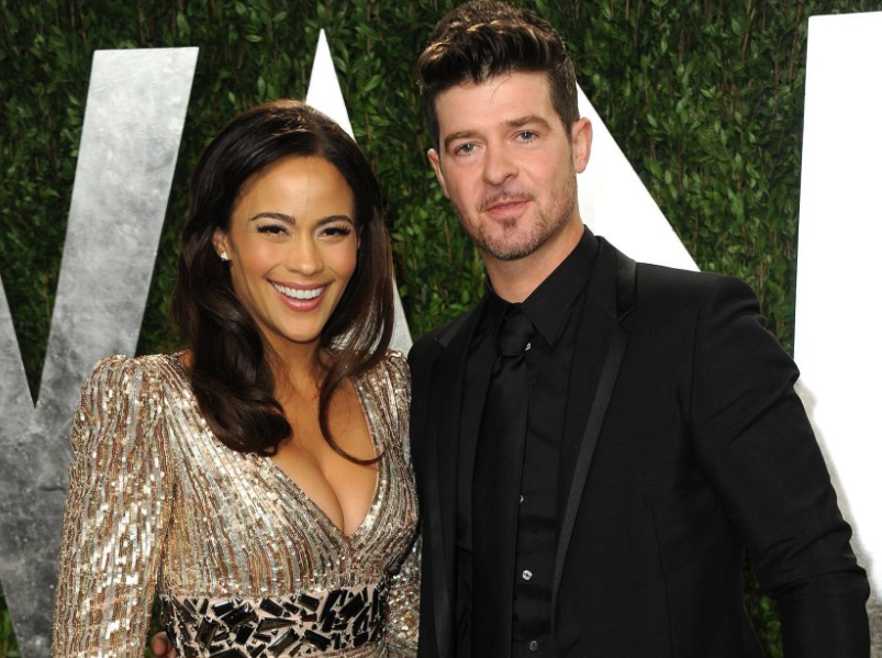 Robin Thicke and his ex-wife, Paula Patton