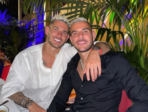 Theo Hernandez and his brother, Lucas