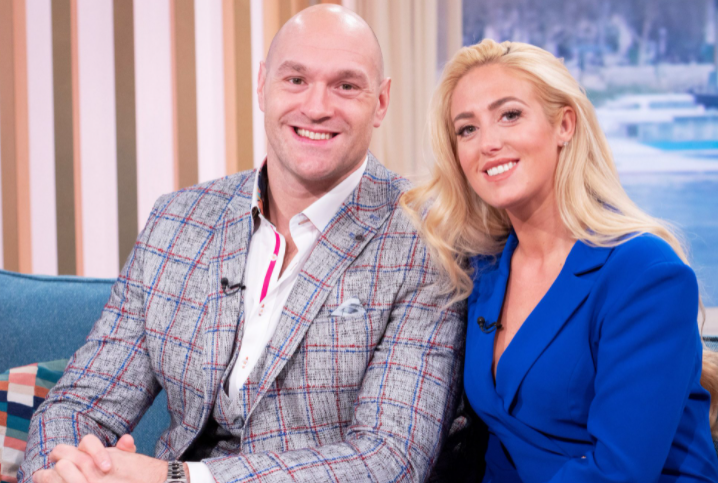 Tyson Fury and his wife, Paris