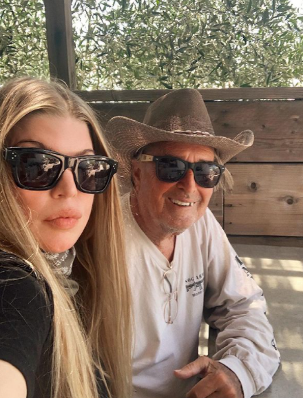 Fergie and her dad, Jon Patrick Ferguson