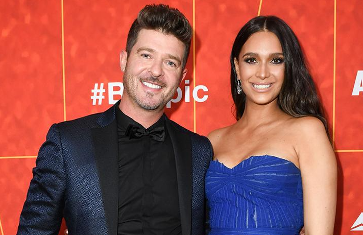 Robin Thicke and April Love Geary